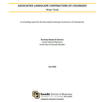 Wage Study for Colorado Landscape Industry