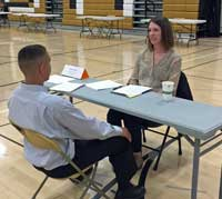 Jessica Moore interviews Green Mountain High student