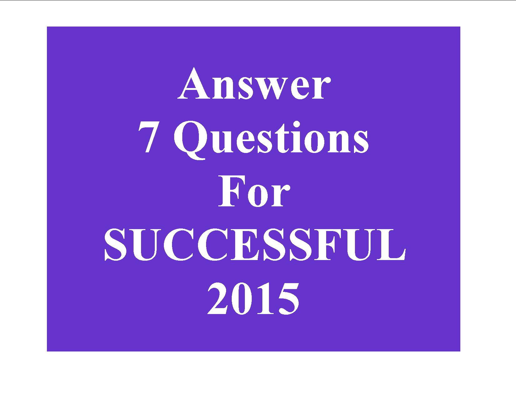 7 questions for a successful year